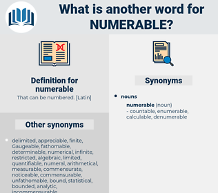 numerable, synonym numerable, another word for numerable, words like numerable, thesaurus numerable