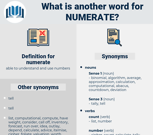 numerate, synonym numerate, another word for numerate, words like numerate, thesaurus numerate