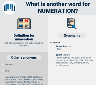 numeration, synonym numeration, another word for numeration, words like numeration, thesaurus numeration