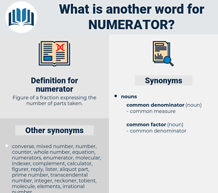 numerator, synonym numerator, another word for numerator, words like numerator, thesaurus numerator