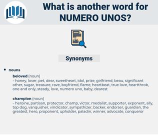 numero unos, synonym numero unos, another word for numero unos, words like numero unos, thesaurus numero unos