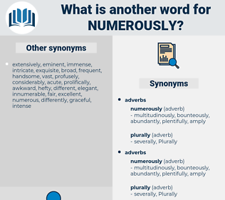 numerously, synonym numerously, another word for numerously, words like numerously, thesaurus numerously