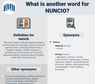 nuncio, synonym nuncio, another word for nuncio, words like nuncio, thesaurus nuncio