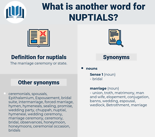 nuptials, synonym nuptials, another word for nuptials, words like nuptials, thesaurus nuptials