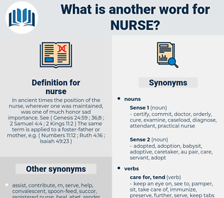 nurse, synonym nurse, another word for nurse, words like nurse, thesaurus nurse
