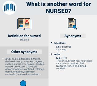 nursed, synonym nursed, another word for nursed, words like nursed, thesaurus nursed