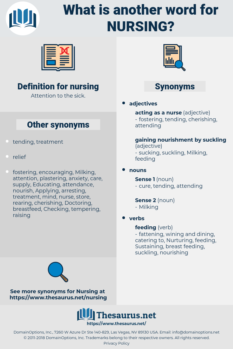 nursing, synonym nursing, another word for nursing, words like nursing, thesaurus nursing