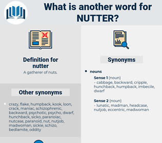 nutter, synonym nutter, another word for nutter, words like nutter, thesaurus nutter