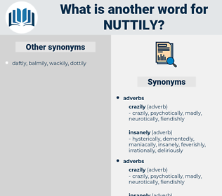 nuttily, synonym nuttily, another word for nuttily, words like nuttily, thesaurus nuttily