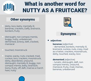 nutty as a fruitcake, synonym nutty as a fruitcake, another word for nutty as a fruitcake, words like nutty as a fruitcake, thesaurus nutty as a fruitcake
