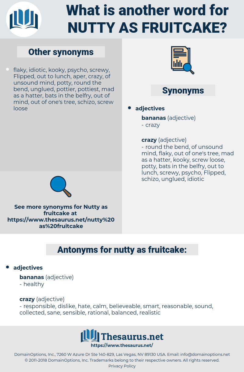 nutty as fruitcake, synonym nutty as fruitcake, another word for nutty as fruitcake, words like nutty as fruitcake, thesaurus nutty as fruitcake