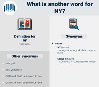 ny, synonym ny, another word for ny, words like ny, thesaurus ny