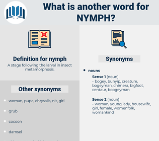 nymph, synonym nymph, another word for nymph, words like nymph, thesaurus nymph