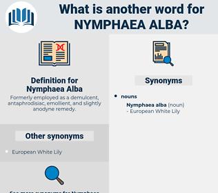 Nymphaea Alba, synonym Nymphaea Alba, another word for Nymphaea Alba, words like Nymphaea Alba, thesaurus Nymphaea Alba