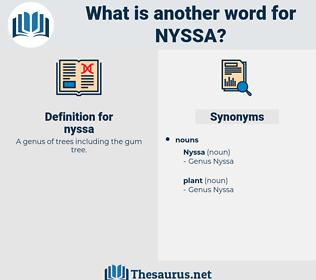 nyssa, synonym nyssa, another word for nyssa, words like nyssa, thesaurus nyssa