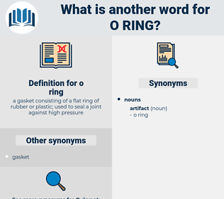 o ring, synonym o ring, another word for o ring, words like o ring, thesaurus o ring