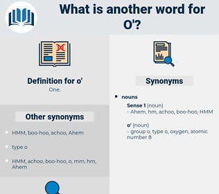 o', synonym o', another word for o', words like o', thesaurus o'
