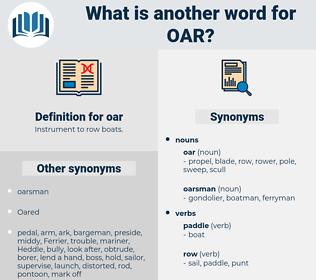 oar, synonym oar, another word for oar, words like oar, thesaurus oar