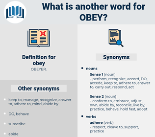 obey, synonym obey, another word for obey, words like obey, thesaurus obey