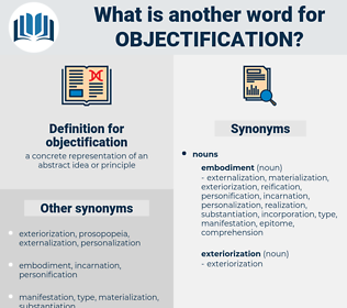 objectification, synonym objectification, another word for objectification, words like objectification, thesaurus objectification
