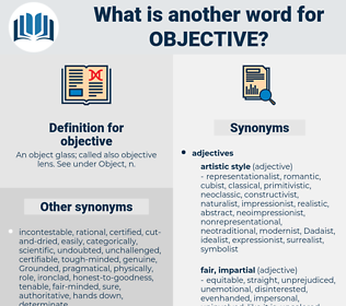 objective, synonym objective, another word for objective, words like objective, thesaurus objective