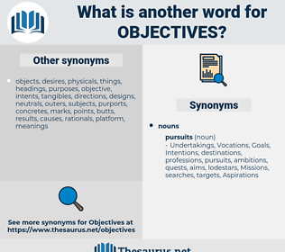 objectives, synonym objectives, another word for objectives, words like objectives, thesaurus objectives