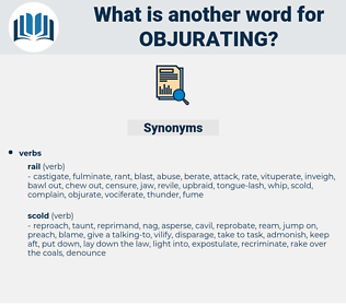 objurating, synonym objurating, another word for objurating, words like objurating, thesaurus objurating
