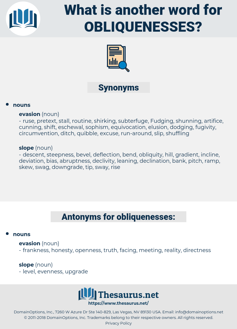 obliquenesses, synonym obliquenesses, another word for obliquenesses, words like obliquenesses, thesaurus obliquenesses