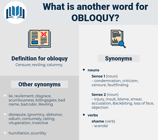 obloquy, synonym obloquy, another word for obloquy, words like obloquy, thesaurus obloquy