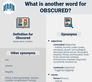 Obscured, synonym Obscured, another word for Obscured, words like Obscured, thesaurus Obscured