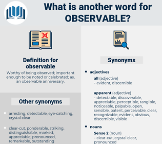 observable, synonym observable, another word for observable, words like observable, thesaurus observable