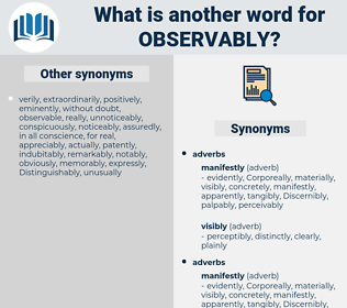 observably, synonym observably, another word for observably, words like observably, thesaurus observably