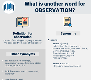 observation, synonym observation, another word for observation, words like observation, thesaurus observation