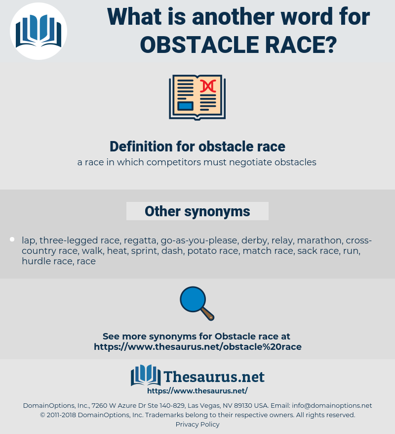 obstacle race, synonym obstacle race, another word for obstacle race, words like obstacle race, thesaurus obstacle race