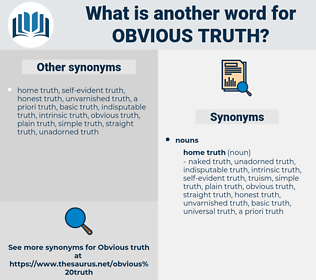 obvious truth, synonym obvious truth, another word for obvious truth, words like obvious truth, thesaurus obvious truth
