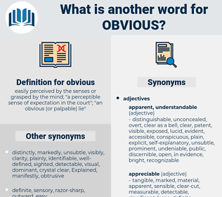 obvious, synonym obvious, another word for obvious, words like obvious, thesaurus obvious