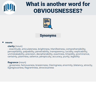obviousnesses, synonym obviousnesses, another word for obviousnesses, words like obviousnesses, thesaurus obviousnesses
