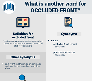 occluded front, synonym occluded front, another word for occluded front, words like occluded front, thesaurus occluded front