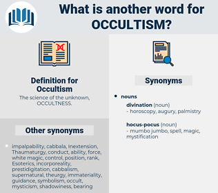 Occultism, synonym Occultism, another word for Occultism, words like Occultism, thesaurus Occultism