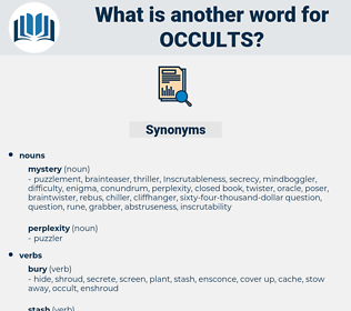 occults, synonym occults, another word for occults, words like occults, thesaurus occults