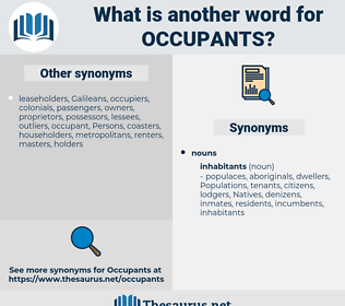 occupants, synonym occupants, another word for occupants, words like occupants, thesaurus occupants