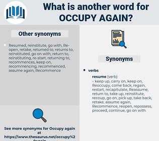occupy again, synonym occupy again, another word for occupy again, words like occupy again, thesaurus occupy again