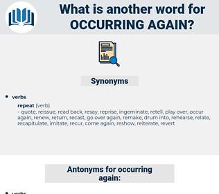 occurring again, synonym occurring again, another word for occurring again, words like occurring again, thesaurus occurring again