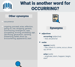 Occurring, synonym Occurring, another word for Occurring, words like Occurring, thesaurus Occurring
