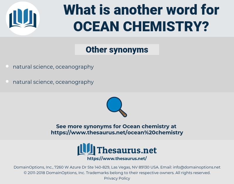 ocean chemistry, synonym ocean chemistry, another word for ocean chemistry, words like ocean chemistry, thesaurus ocean chemistry