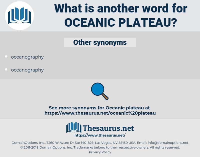 oceanic plateau, synonym oceanic plateau, another word for oceanic plateau, words like oceanic plateau, thesaurus oceanic plateau