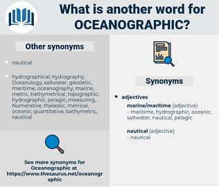oceanographic, synonym oceanographic, another word for oceanographic, words like oceanographic, thesaurus oceanographic