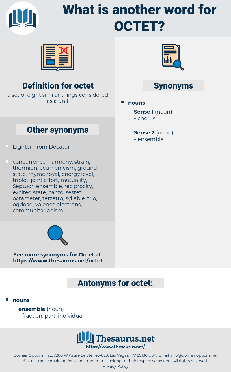 octet, synonym octet, another word for octet, words like octet, thesaurus octet