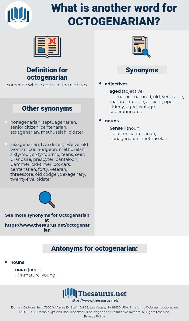 octogenarian, synonym octogenarian, another word for octogenarian, words like octogenarian, thesaurus octogenarian