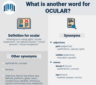 ocular, synonym ocular, another word for ocular, words like ocular, thesaurus ocular